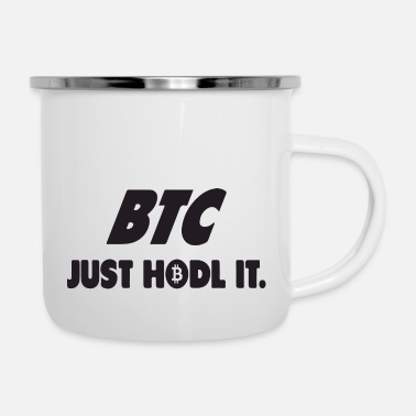 Console btc just hodl it - Enamel Mug