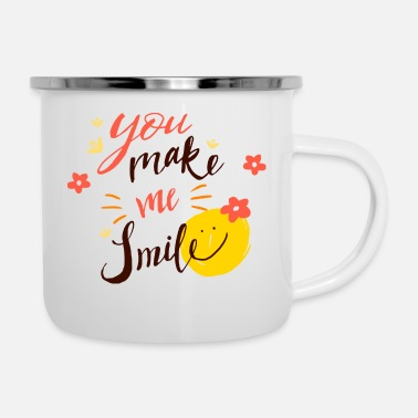 Love smiley women T-shirt - Enamel Mug
