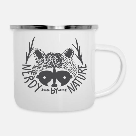 Nature Mugs & Drinkware - Nerdy by nature - Enamel Mug white