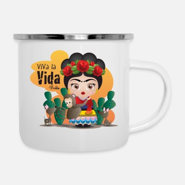 Frida Kahlo Quotes - Enamel Mug