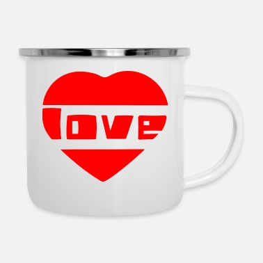 Love With Heart love with heart - Enamel Mug