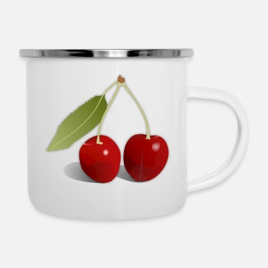 Cherry cherries - Enamel Mug