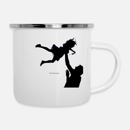 Father And Daughter Mugs & Drinkware - Father and Daughter - Enamel Mug white