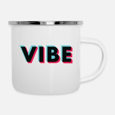 Old School vibe glitch black - Enamel Mug