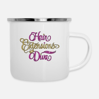 Natural Hair Extensions Diva - Enamel Mug