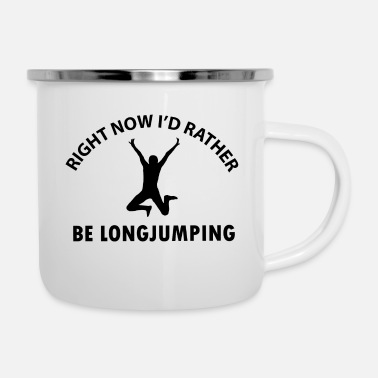 Long long jump designs - Enamel Mug