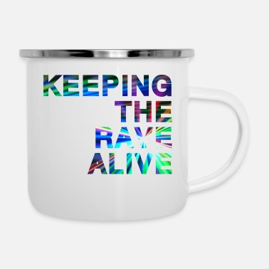 Ktra Keeping the rave alive - Enamel Mug