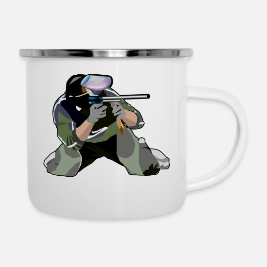 Airsoft Mugs & Drinkware - Paintball - Enamel Mug white