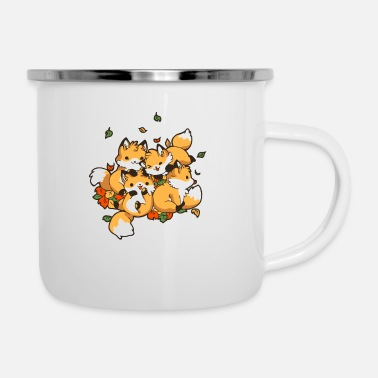 Playful Playful Foxes - Enamel Mug