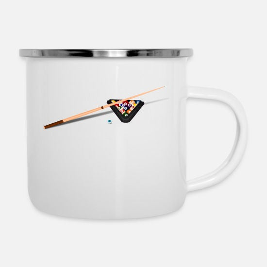 Ball Mugs & Drinkware - billiard - Enamel Mug white
