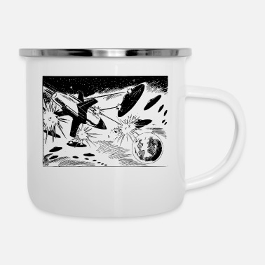 Scifi scifi spacebattle - Enamel Mug
