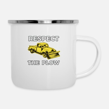 Plow Respect The Plow - Enamel Mug