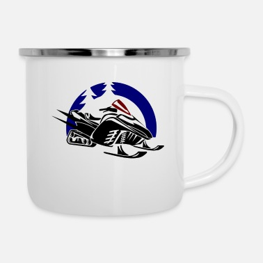 Crossfit Play snowmobile on a vast expanse of ice funny - Camper Mug