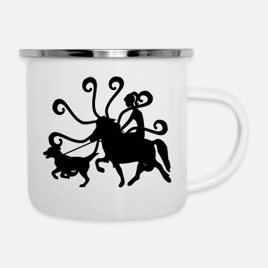 Girl Icelandic Horse: Pony Merch - Camper Mug