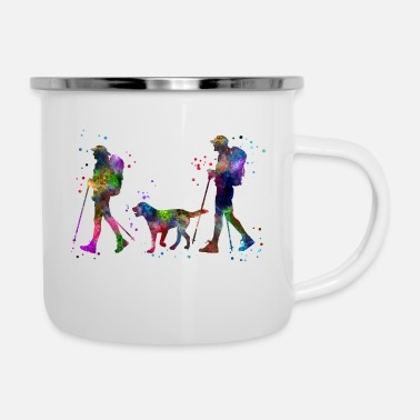 Couples Traveling as a couple, couple, couple traveling - Enamel Mug