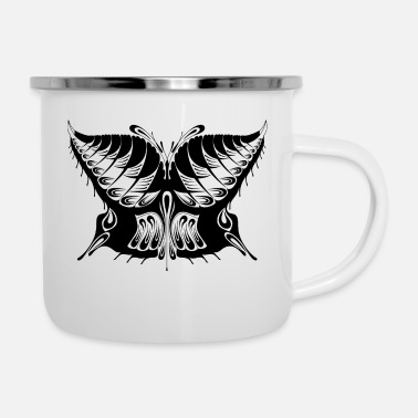 Abstract Abstract Butterfly Silhouette - Enamel Mug