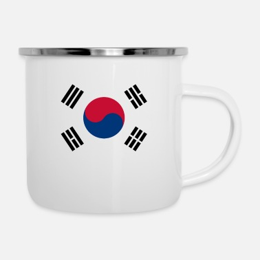 South Flag of South Korea - Enamel Mug