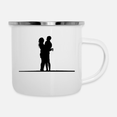 Quotes Couples couple - Enamel Mug