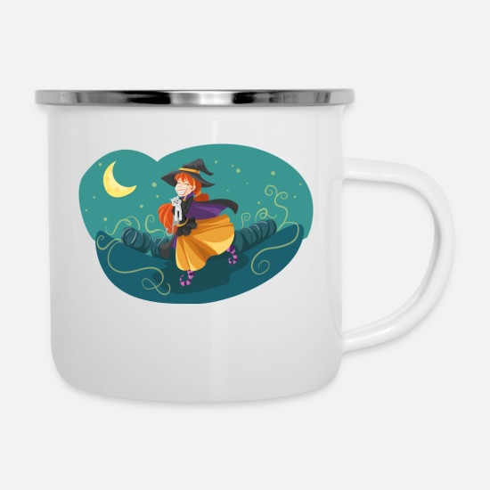 Witching Hour Mugs & Drinkware - Witch - Enamel Mug white