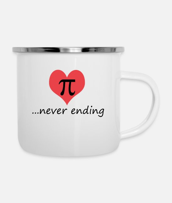 Pi Day Mugs & Drinkware - Pi - Enamel Mug white