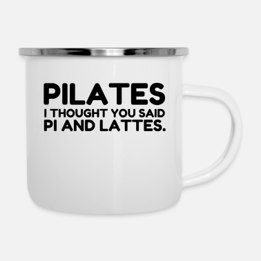 Pilates PILATES PI AND LATTES - Enamel Mug