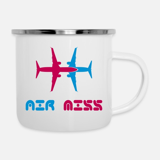 Stylish Mugs & Drinkware - AIR miss - Enamel Mug white