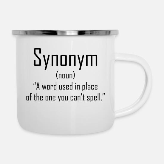 English Language product - Synonym (Noun) - School Camper Mug - white