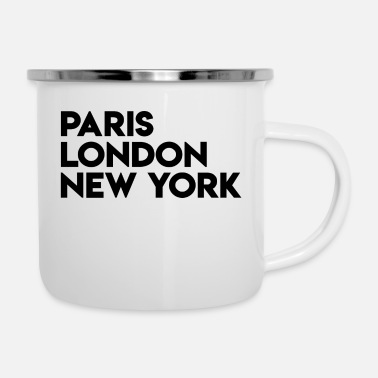 Schland Paris London New York - Enamel Mug
