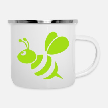 Bee Bumble Bee - Unique Design - Enamel Mug