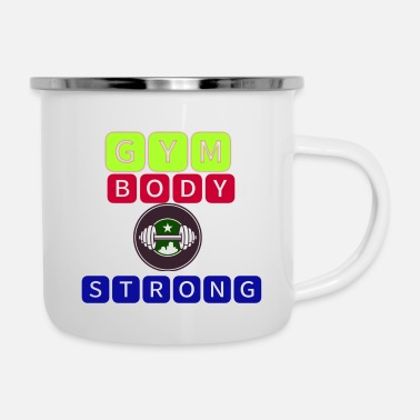 Original Gym Body string - Enamel Mug
