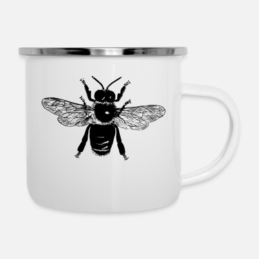 Quirk Flying Bee - Enamel Mug