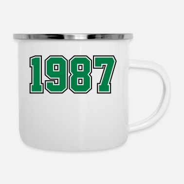 Year Of Birth 1987 | Year of Birth | Birth Year | Birthday - Enamel Mug