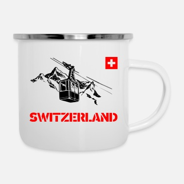 Switzerland Switzerland / Switzerland with mountains and gondo - Camper Mug