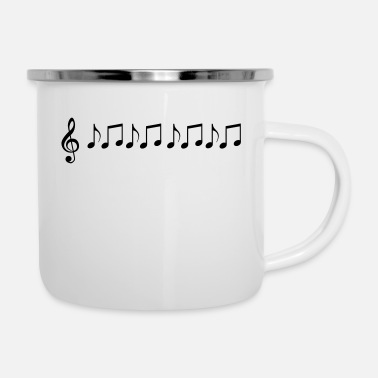 Sheet sheet music - Enamel Mug