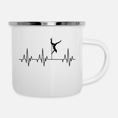 Guys Night Out Heartbeat Pole Dance Dancing Dancer - Enamel Mug