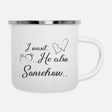 Wedding Day funny wedding, engagement, wedding day - Enamel Mug