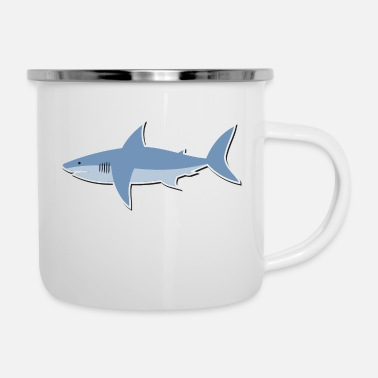 Cartoon Shark Cartoon shark - Enamel Mug