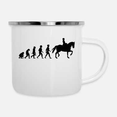 Equitation Evolution Horses Riding Harness Racing Equitation - Enamel Mug