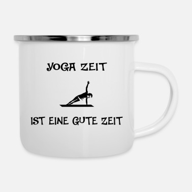 Spiritual Yoga time is a good time black - Camper Mug