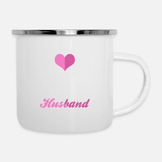Love Mugs & Drinkware - I Love My Crazy Husband - Enamel Mug white