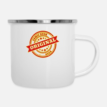 Book Original Comic Book Geek - Enamel Mug