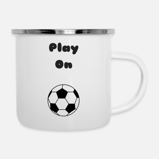 Play Mugs & Drinkware - Play On - Enamel Mug white