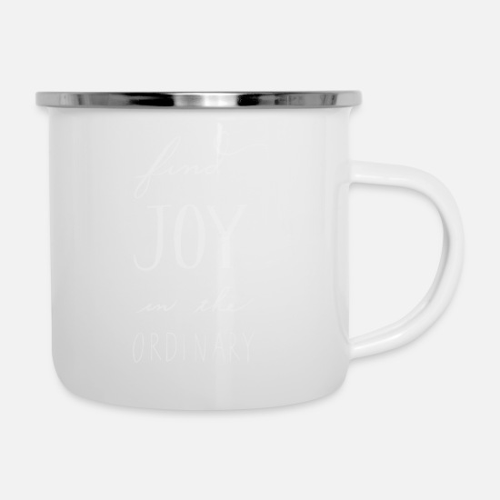 Movie Mugs & Drinkware - Find Joy - Enamel Mug white