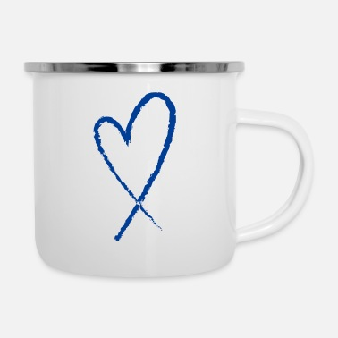 Colon Cancer Ribbon - Enamel Mug