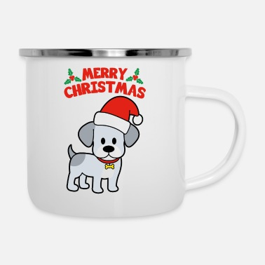 Merry Merry Christmas Dog - Enamel Mug