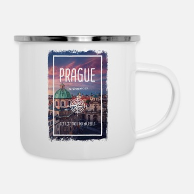 Scene Prague, Czech Republic, the golden city - Enamel Mug