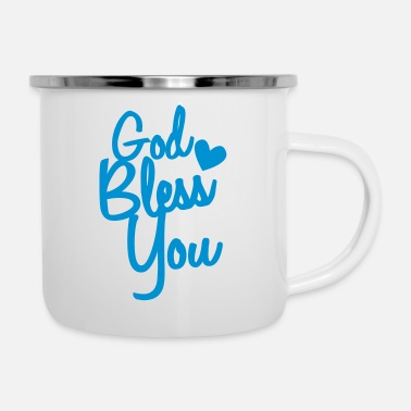 Bless You god bless you - Enamel Mug