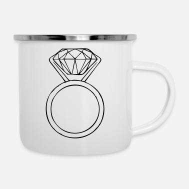 Diamond Ring diamond ring - Enamel Mug