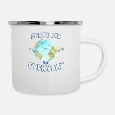 Day Earth Day Every Day - Camper Mug