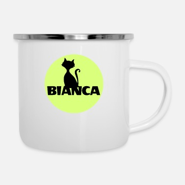 Name Day Bianca name first name - Enamel Mug